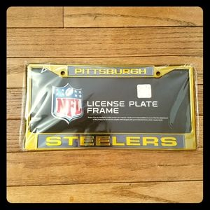 NEW Pittsburgh Steelers License Plate Holder!